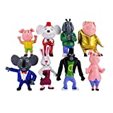 Giocattolo Action Figure 7-10 cm 8pcs / Lote Canta Figura Toy Buster Koala Johnny Rossi Minna Mike Pig Conejo Elefante Ratón Orangután Animales Modelo Muñeca