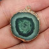 FENGNANMY Naturstein Heilstein Natürliche Agate Stein anhänger Exquisite unregelmäßige runde...