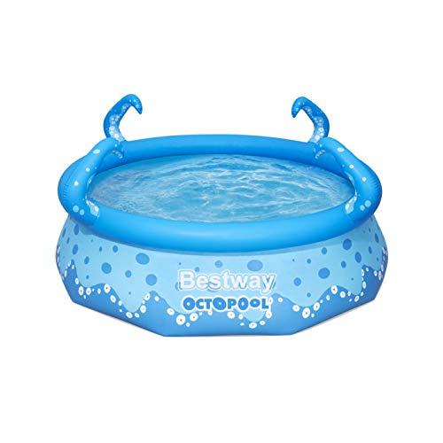Bestway OktoPool für Kinder, Planschbecken mit aufblasbarem Luftring, 274 x 76 cm Pool, Blau