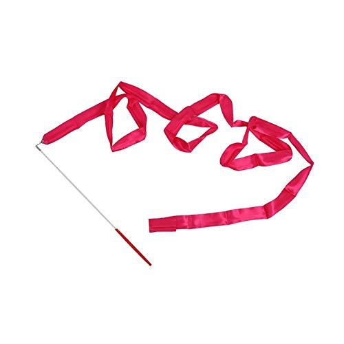 mdxmai Cinta de Danza Gimnasia rítmica Arte de Gimnasia de Ballet Streamer de Giro Rod Serpentinas de Bailes para niños 4M Rose Red