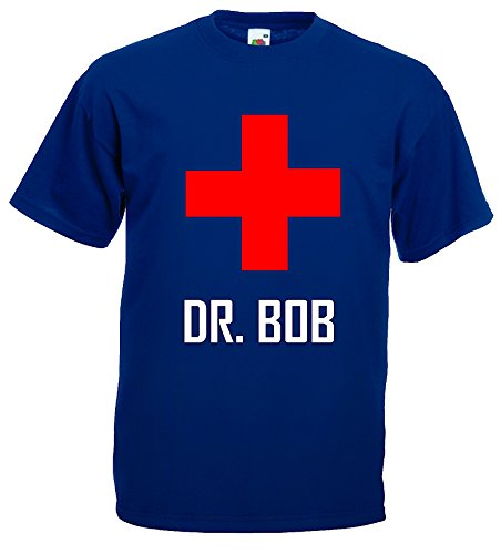 World-of-Shirt Herren T-Shirt Dr.Bob Dschungelcamp Funshirt|Marineblau-L