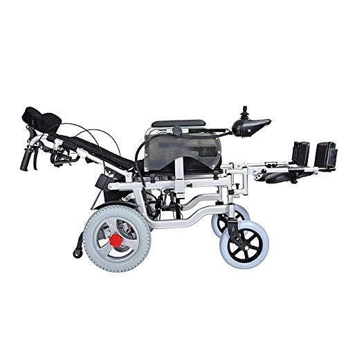 ZHANGYY Elektrorollstuhl Old Man Scooter kann in der älteren behinderten Offroad-Art Rollstuhl liegen Elektrische Hebebein Rückenlehne (schwarz)