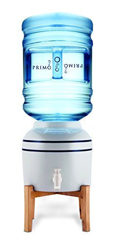 Primo Top Loading Countertop Water Dispenser - Room Temperature - Countertop Ceramic Water Dispenser Supports 3 or 5 Gallon Water Jugs