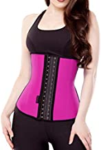 Women Hot Sweat Latex Waist Trainer Corset Trimmer Belt Body Shaper Slimming Pink XL