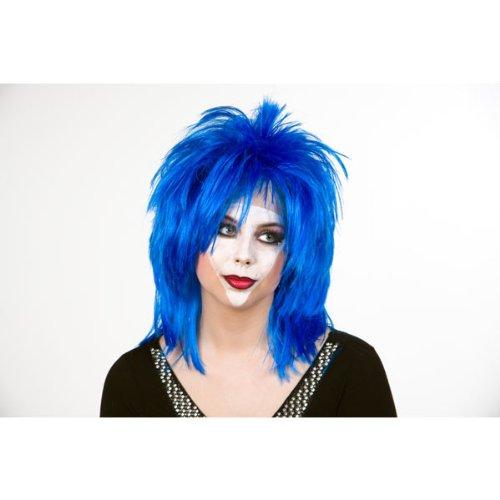 Punky perruque bleue