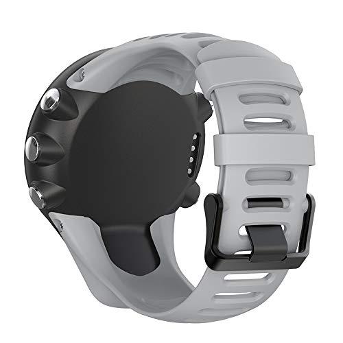 Silikon Ersatz Armband Zubehör Uhrenarmband Armband mit Schrauben Kompatibel für Suunto Ambit 1/2 / 2S / 2R / 3 Sport / 3 Run / 3 Peak Smartwatch (Grau)