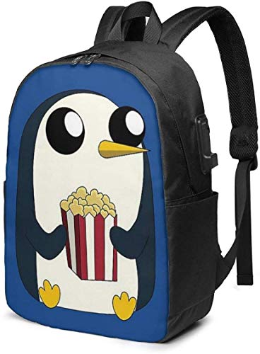 Gunter Loves Popcorn, Busin Anti Theft Slim Durable Laptops Backpack with USB Charging Port,School Backpacks 17in