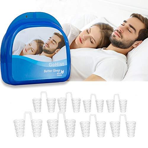 Schnarchstopper, Premium Anti Schnarch Mittel Nasendilatatoren für Nasenpflaster, Nasenklammer mit antibakterieller und praktischer Aufbewahrungsbox