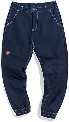 Dufjodi la Jeunesse d'populaire Jean Jeans Japonais Japonais Broderie Pied Cheville fondule Pantalon,Le Tibet de la Marine,L