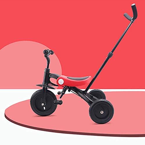 3 in 1 Kinder Dreirad für Jungen & Mädchen, Kleinkind Dreiräder Balance Bike Klapp Kinder Trike mit Eltern Lenker für 1-6 Jahre Kinder Laufen 3 Wheeler Fahrrad