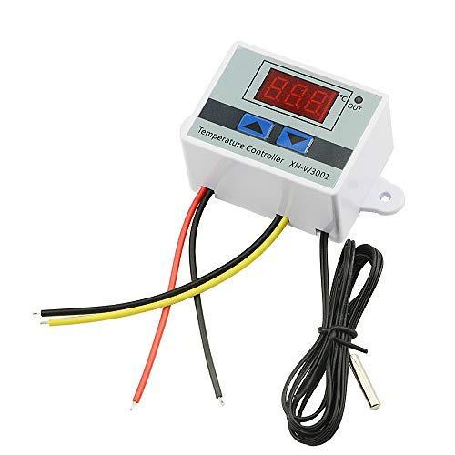 XINGYHENG XH-W3001 DC 110V-220V 1500W 10A Microcomputer Digital Temperature Controller Digital DisplayThermostat Control Switch and NTC 10K Thermistor Sensors Digital Temperature Probe