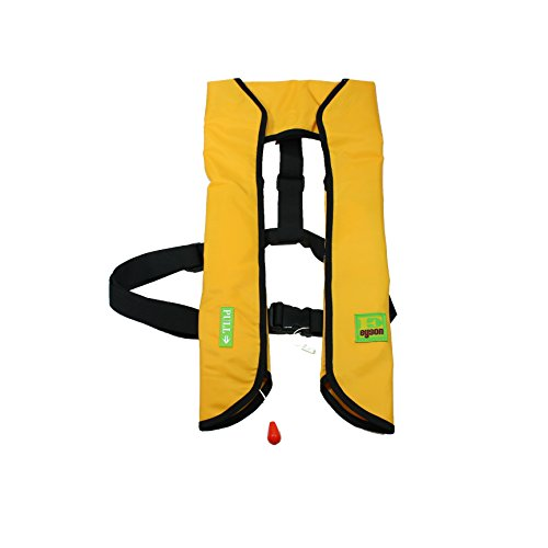 Lifesaving Pro Premium 33G Manual Inflatable PFD Survival Buoyancy Life Jacket Vest - Yellow