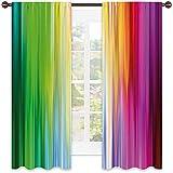 Tenda di colore resistente all'usura, colori astratti che sembrano fluire in un altro arcobaleno schema di colori grafici, tessuto impermeabile, W42 x L45 pollici multicolore