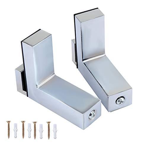 Coolty 2 Stück Regalbodenhalter, RegalHalter Glasbodenträger für 5-30mm Dicke Glas und Holz Regal