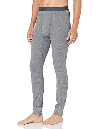 Fruit of the Loom Men's Recycled Premium Waffle Thermal Underwear Long Johns Bottom (1, 2, 3, and 4 Packs), Greystone Heather, Large
