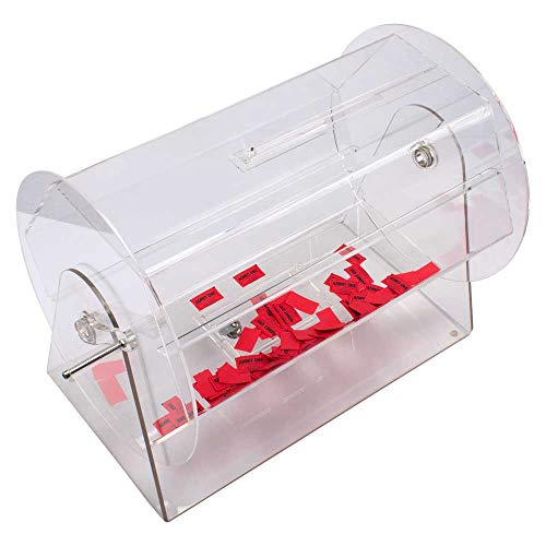 GSE Games & Sports Expert Acrylic Raffle Ticket Drum - Available in Small, Medium, Large Size (Large - Holds 10,000 Tickets)