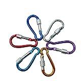Zimaes Duradero 2pcs mosquetón de Escalada Hebilla de Color al Azar Accesorios Equipo al Aire Libre Pared de Safty Lock Deportes (Color : Multi-Colored)