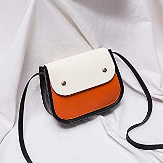 RONSHIN Women Fashion Matching Color Single-Shoulder Casual Bag Mini Square Bag