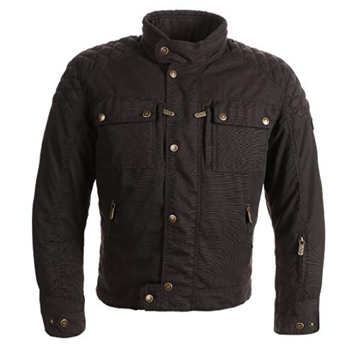 GUNS Chaqueta textil JO para hombre textil, color negro – M