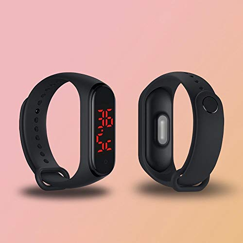 QiQizhang Connected-Uhr Thermometer Health Monitor Armbanduhr Uhr Silikon-Bügel-Mann Frau Kind Kind Mit Gurt