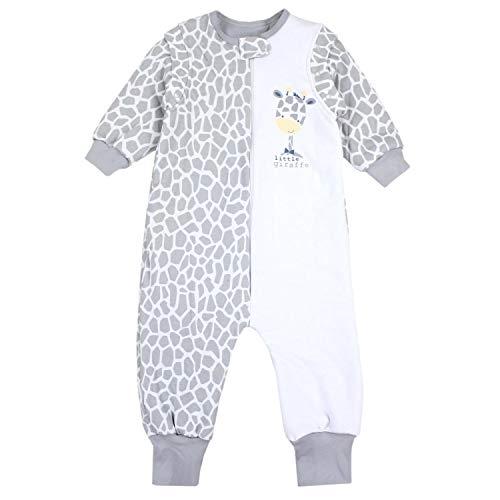 TupTam Baby Unisex Schlafsack mit Beinen und Ärmel Winter, Farbe: Giraffe, Größe: 80-86