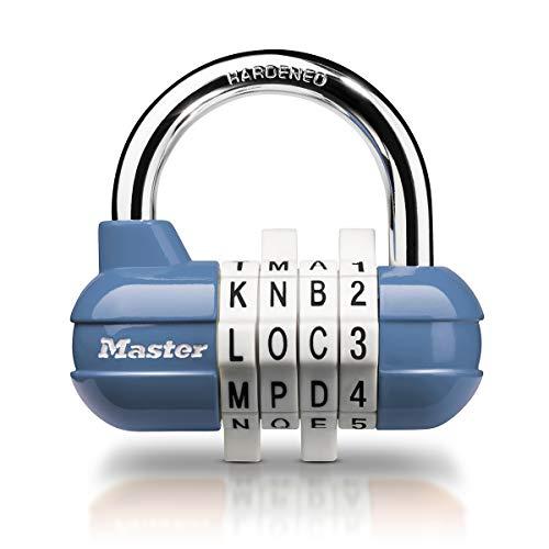 Master Lock 1534EURD Candado con Combinación, Color aleatorio, 5,9 x 6,4 x 2,6 cm