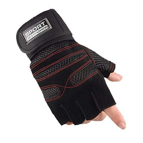 Pennyjie Anti-Rutsch-Atmungsaktive Halbfinger-Handschuhe für das Sport-Fitness-Training