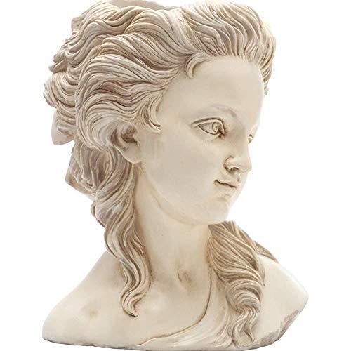 Standbeelden Sculptuur Ornamenten Tuin Sculptuur Griekse Godin Hoofd Bloempot Creatieve Tuin Bloempot Decoratie