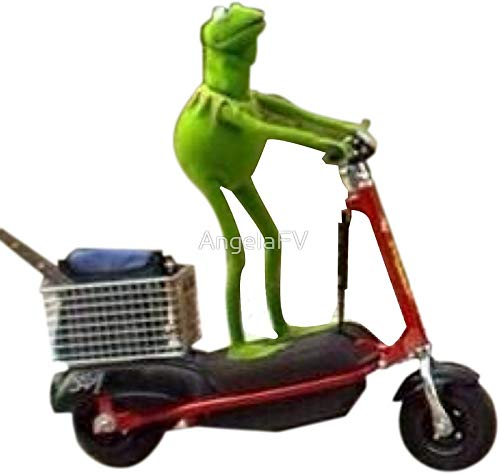 LA STICKERS Scooter Kermit - Aufkleber Grafik - Auto Wand Laptop Zelle LKW Aufkleber für Fenster Auto LKW
