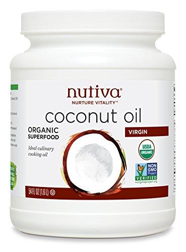 Nutiva Organic, Cold-Pressed, Unrefined, Virgin Coconut Oil from Fresh, non-GMO, Sustainably Farmed Coconuts, 54-ounce