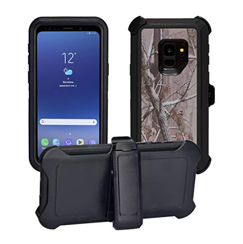 AlphaCell Cover Compatible with Samsung Galaxy S9 (Only) | Holster Case Series | Military Grade Protection with Carrying Belt Clip | Protective Drop-Proof Shock-Proof | Black/Camouflage