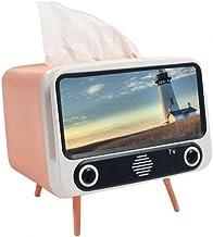 SMEJS Creatieve 2 In 1 TV Tissue Doos Retro Telefoon Houder Multifunctionele Beugel Desktop Papier Houder Dispenser Mobiel...
