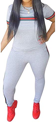 Sport Leggins,Yogahose Chic naar Max Womens trainingspak Set 2 stuks Plus Size Sports Outfits Top met lange mouwen en Bodycon broek joggingpak for Vrouwen Ladies (Color : B*White, Size : XL)