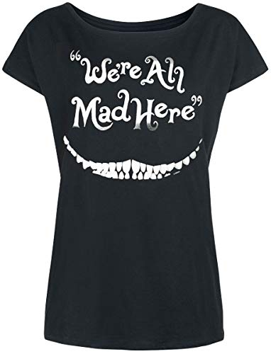 Alice im Wunderland Grinsekatze - We're All Mad Here Frauen T-Shirt schwarz L