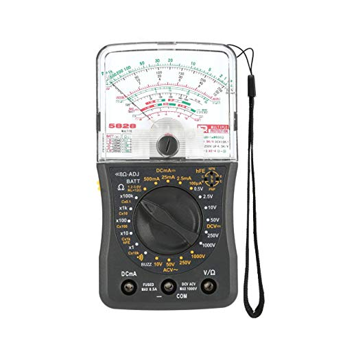 Ballylelly Multímetro analógico de Mano Voltímetro de CA/CC Amperímetro Resistencia Continuidad Capacitancia Batería dB Probador de capacitancia