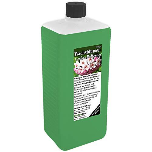 GREEN24 Hoya Dünger XL 1 Liter Wachsblumen düngen Porzellanblumen Flüssigdünger NPK Volldünger