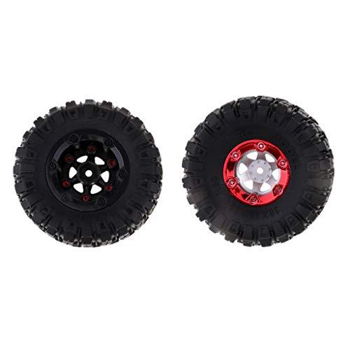 chiwanji 1/12 Escala Eléctrico RC Truck Parts Neumáticos de Goma Neumáticos 100mm para Wltoys 12423