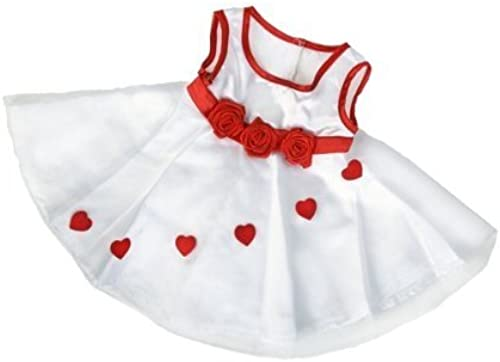 Adorable Hearts Robe Outfit Fits Most 14 - 18 Build-a-bear, Vermont Teddy Bears, and Make Your Own Stuffed Animals by Stuffems Toy Shop