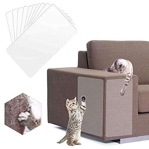YISKY Katze Kratzschutz Sofa, 6 Stück Kratzschutz für Haustiere, Anti Kratz Möbelschutz, Katzen Kratzschutz für Möbel, Kratzschutz Klebefolien, Antikratzfolie Katze, Kratzschutz Set
