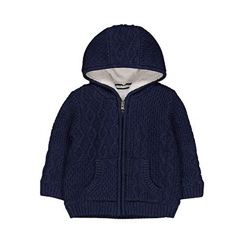 Mothercare Navy Knit Borg Long Cardi Gilet, Blue, 3-4 Ans Bébé garçon