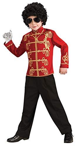Michael Jackson Child's Value Military Jacket Costume Accessory, Medium, Red