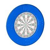 Relaxdays Dart Catchring R7, 4 Piezas, Anillo Protector para Diana de 45 cm, Estable, protección de Pared, EVA, diámetro Total de 72 cm, Color Azul, Unisex Adulto, 1 Unidad