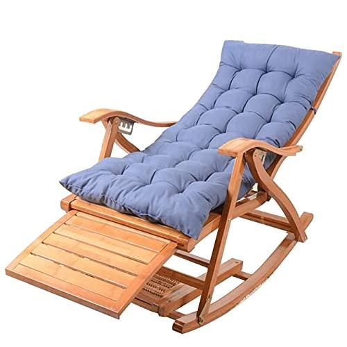 Massage-AED Klappbare Esszimmerstühle, Liegestühle, klappbarer Bambusloungesessel Tragbares Nickerchen für Erwachsene mit versenkbarer Fußstütze