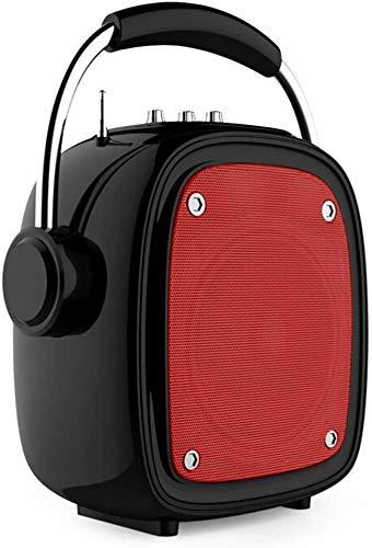 Mopoq Drahtlose Bluetooth-Lautsprecher - bewegliche kleine Außen-Player-Miniübergewicht Subwoofer / 16X10X25.5cm Lautsprecher (Color : Rot)