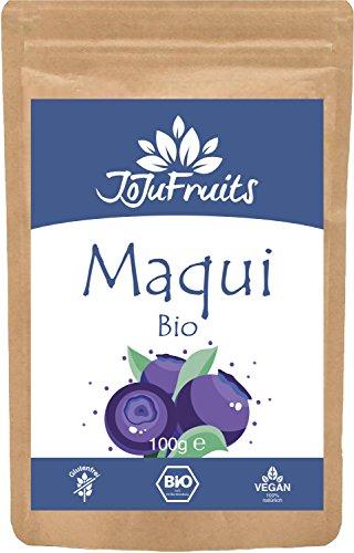 JoJu Fruits - Bio Maqui Pulver (100g) – Superfood aus Maqui Beeren