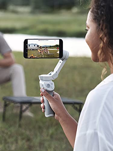 DJI OM 4 - Handheld 3-Axis Smartphone Gimbal Stabilizer with Grip, Tripod, Gimbal Stabilizer Ideal for Vlogging, YouTube, Live Video, Phone Stabilizer Compatible with iPhone and Android