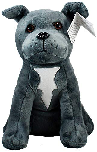 Shelter Pets Stuffed Animals: Magnum - 10' Grey Pitbull Dog Plush Toy - Based on Real-Life Adopted Pets - American Staffordshire Terrier - Benefiting The Animal Shelters They were Adopted from