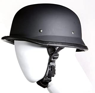 German Novelty Flat Black Motorcycle Helmet (Size XL, X-Large)