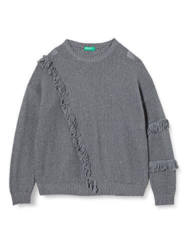 Benetton Maglia G/c M/l Jersey, Gris (Steel Gray 64h), 104 (Talla del Fabricante: XX) para Niñas