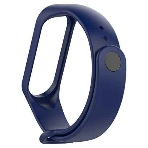 Kinshops Moda per Xiaomi Mi Band 4 Cinturino di Ricambio Sport Cinturino in Silicone Bracciale Cinturino di Ricambio Bicolore , Blu Notte